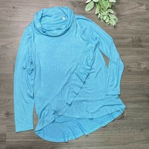 SOFT SURROUNDINGS | sz XS aqua cowl sweater